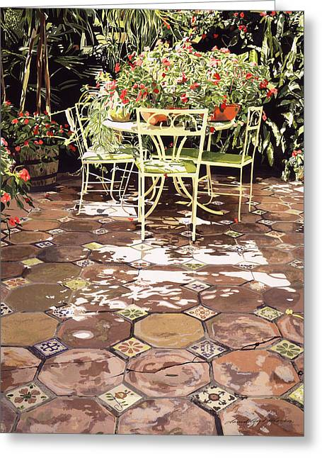 The Enchanted Patio Greeting Card