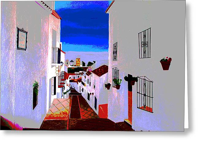 The Enchanted Village Of Mijas Greeting Card