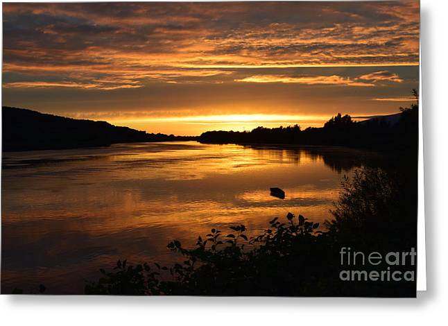 The End Of A Perfect Day Greeting Card by Joe Cashin
