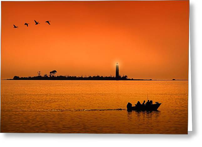 The End Of A Wonderful Day. Greeting Card