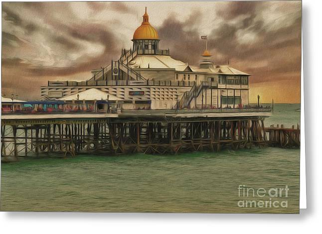Greeting Card featuring the photograph The End Of The Pier Show by Leigh Kemp