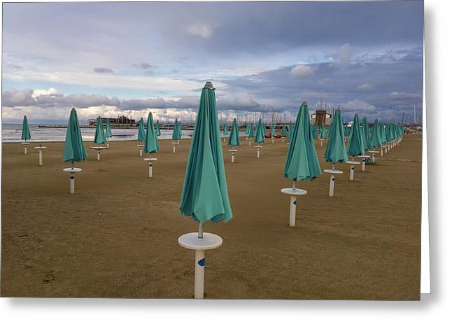 The End Of The Season In Rimini Greeting Card