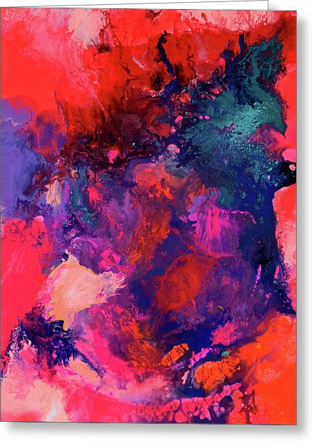 The Energy Of Spring Abstract Xxl Big Painting Greeting Card