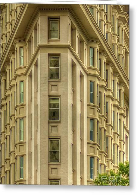 The English American Building Flatiron Building Art Greeting Card