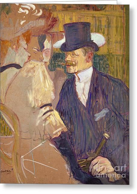 The Englishman  Greeting Card by Henri de Toulouse-Lautrec