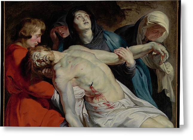 The Entombment By Peter Paul Rubens Greeting Card