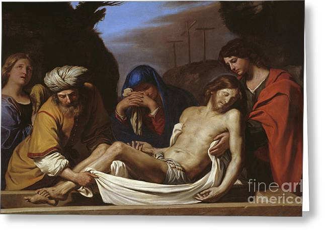 The Entombment Greeting Card by Guercino