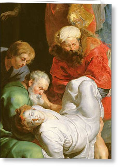 Martyr Greeting Cards - The Entombment of St Stephen Greeting Card by Peter Paul Rubens