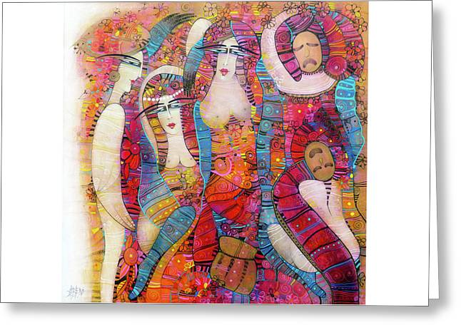 The Entr'acte  Greeting Card by Albena Vatcheva