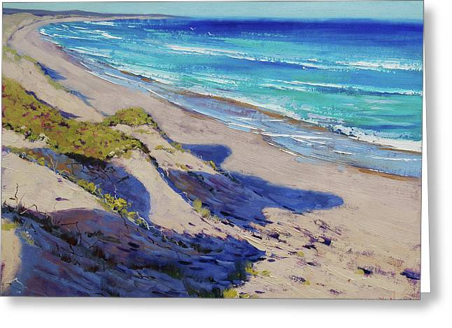 The Entrance Beach Dunes, Australia Greeting Card by Graham Gercken