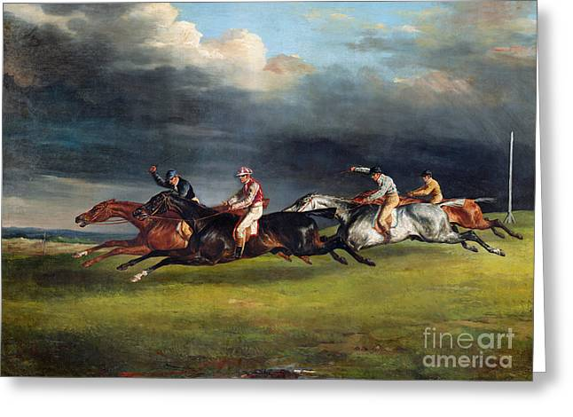 The Epsom Derby Greeting Card by Theodore Gericault