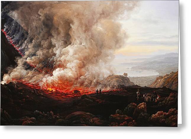 The Eruption Of Vesuvius Greeting Card