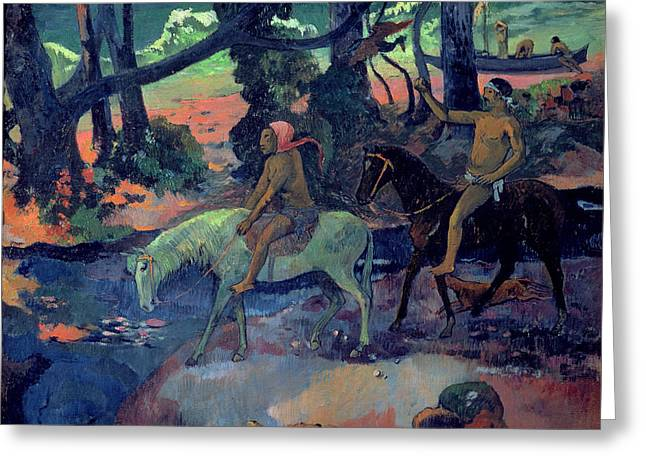 The Escape Greeting Card by Paul Gauguin
