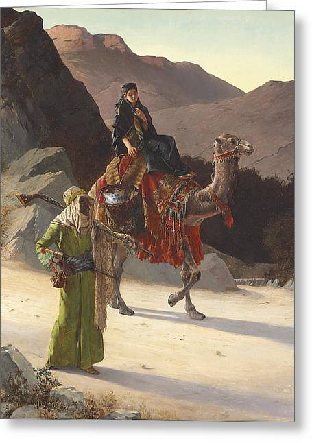 The Escort Greeting Card by Rudolf Ernst