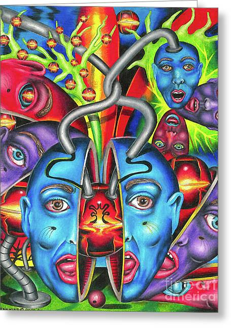 The Esoteric Force Of Molecular Mentality Greeting Card