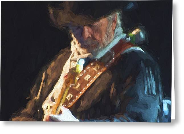 The Essence Of Merle Haggard Greeting Card by Garland Johnson