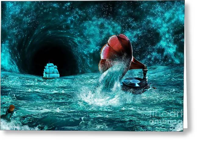 Greeting Card featuring the digital art The Eternal Ballad Of The Sea by Olga Hamilton