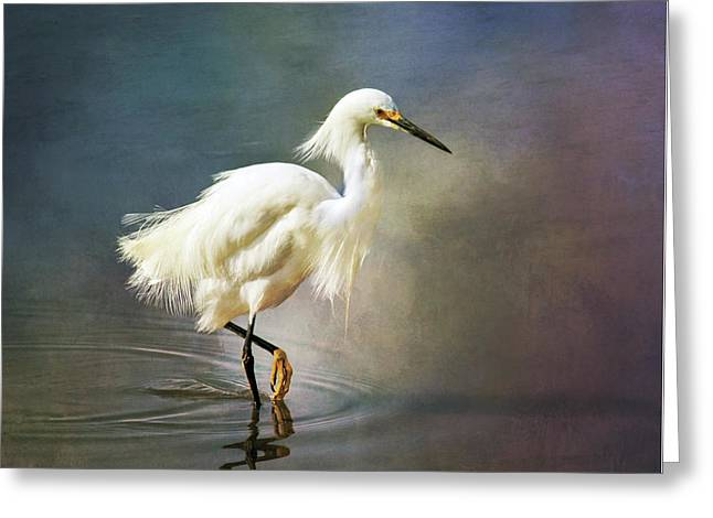 The Ethereal Egret Greeting Card