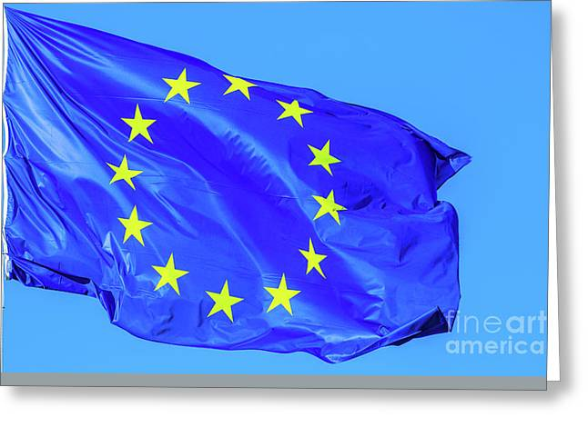 the Europe Flag Greeting Card