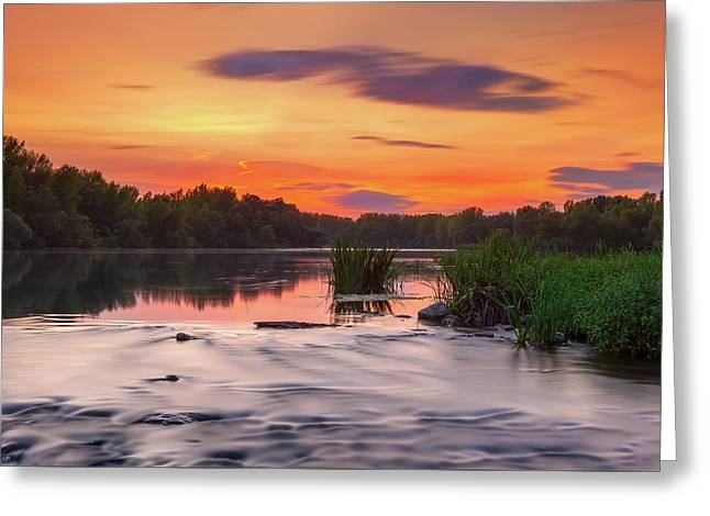The Eve On The River Greeting Card