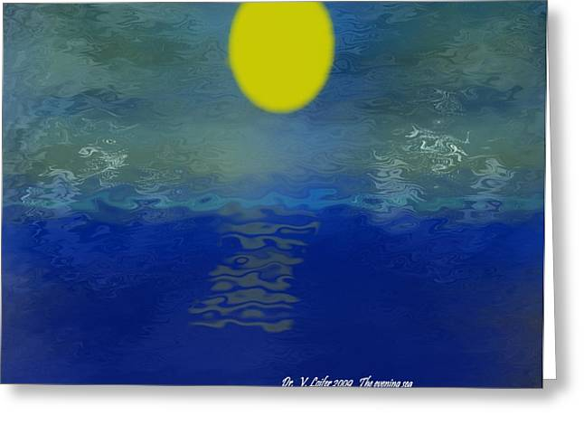 The Evening Sea Greeting Card by Dr Loifer Vladimir