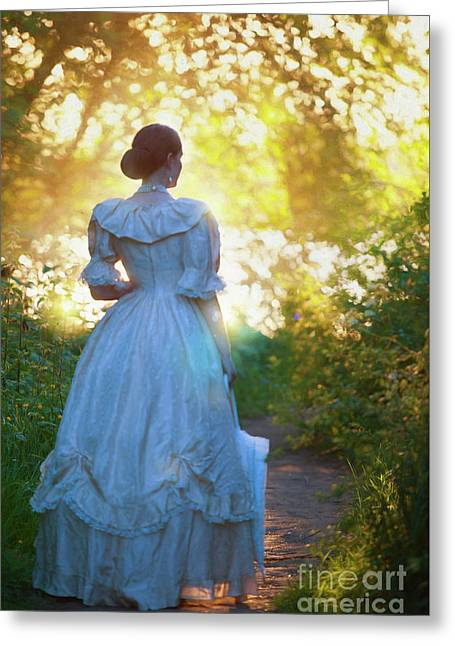 Greeting Card featuring the photograph The Evening Walk by Lee Avison