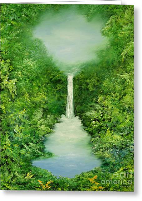 The Everlasting Rain Forest Greeting Card by Hannibal Mane
