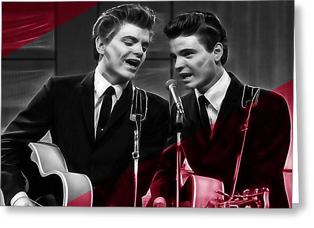 The Everly Brothers Collection Greeting Card by Marvin Blaine