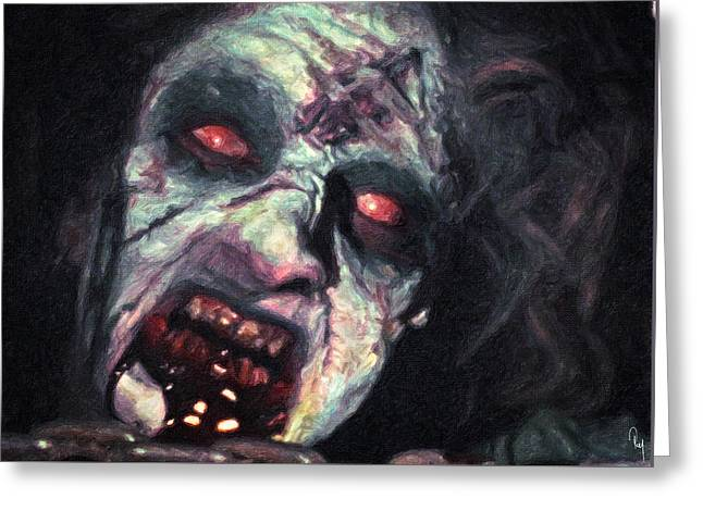 The Evil Dead Greeting Card by Taylan Apukovska