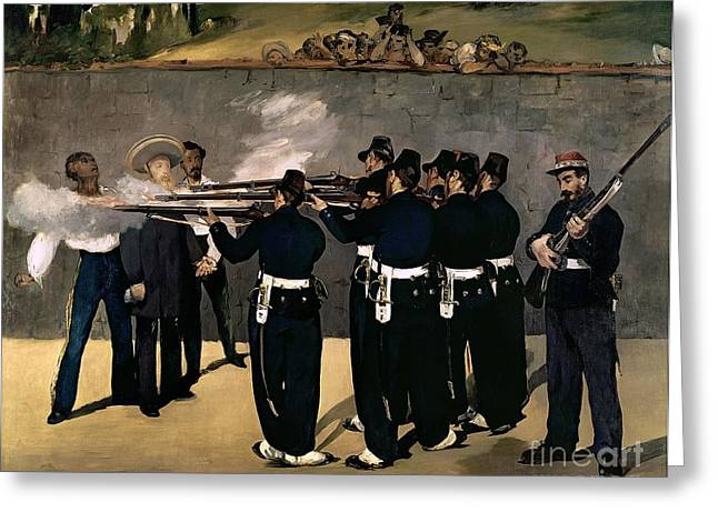 The Execution Of The Emperor Maximilian Greeting Card