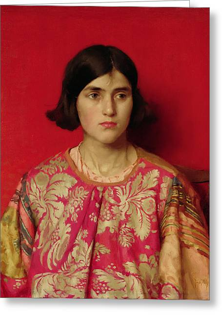 Exiles Greeting Cards - The Exile - Heavy is the Price I Paid for Love Greeting Card by Thomas Cooper Gotch
