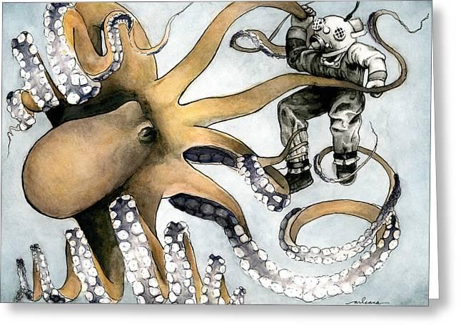 The Explorer Greeting Card by Arleana Holtzmann