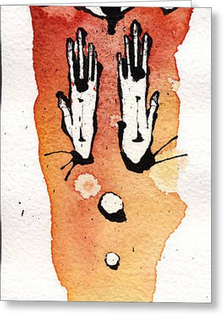 The Expression Three Greeting Card by Mark M  Mellon