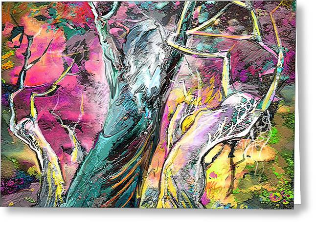 The Expulsion From Paradise Greeting Card by Miki De Goodaboom