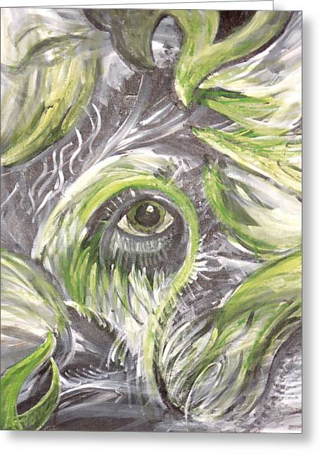 The Eye Greeting Card by Jessica Kauffman