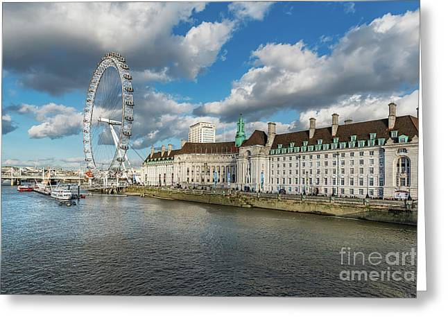 The Eye London Greeting Card by Adrian Evans