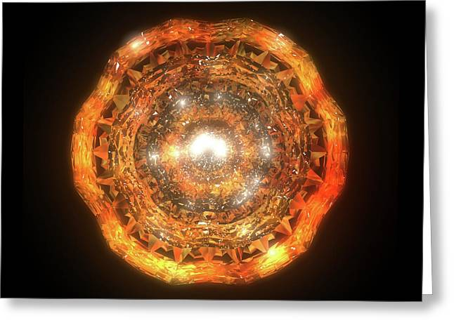 The Eye Of Cyma - Fire And Ice - Frame 7 Greeting Card