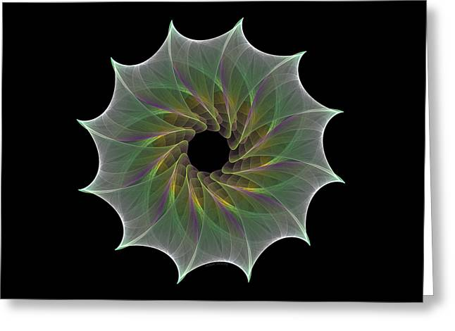 Greeting Card featuring the digital art The Eye Of God by Denise Beverly