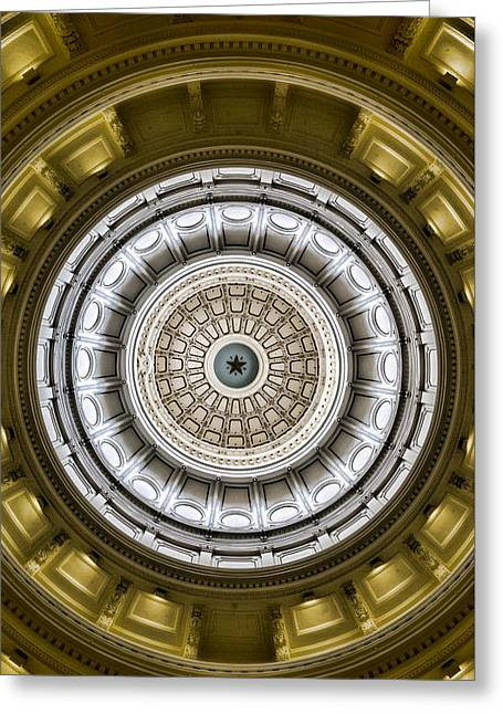 The Eye Of Texas Is Upon You Greeting Card by Stephen Stookey