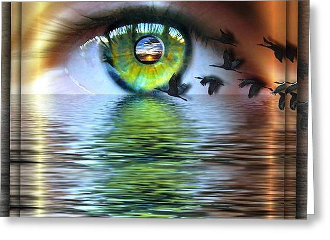 The Eye Of The Observer Greeting Card by Nadine May