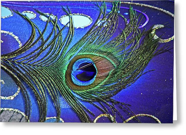 The Eye Of The Peacock Greeting Card