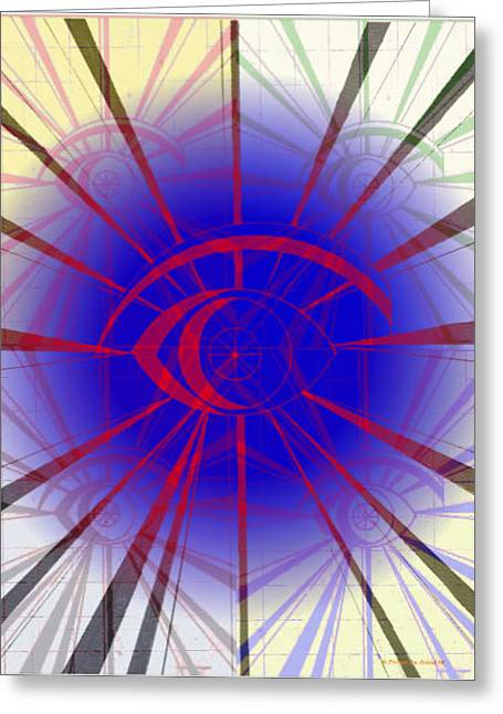 The Eye Of The Storm  Greeting Card by HPrince De Artist