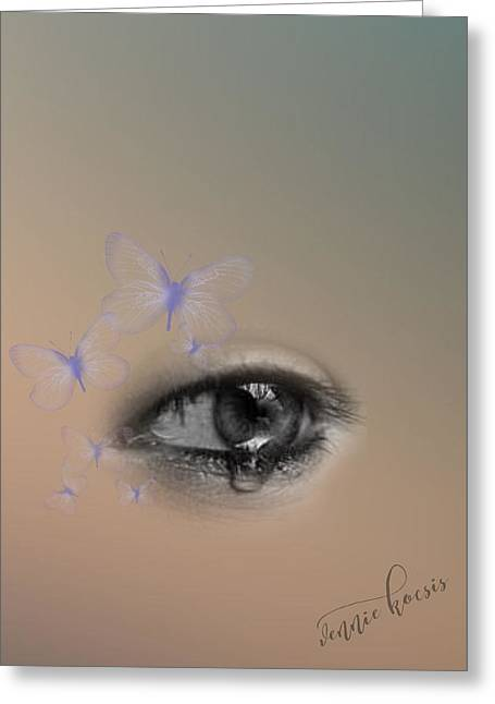 The Eyes Don't Lie Greeting Card