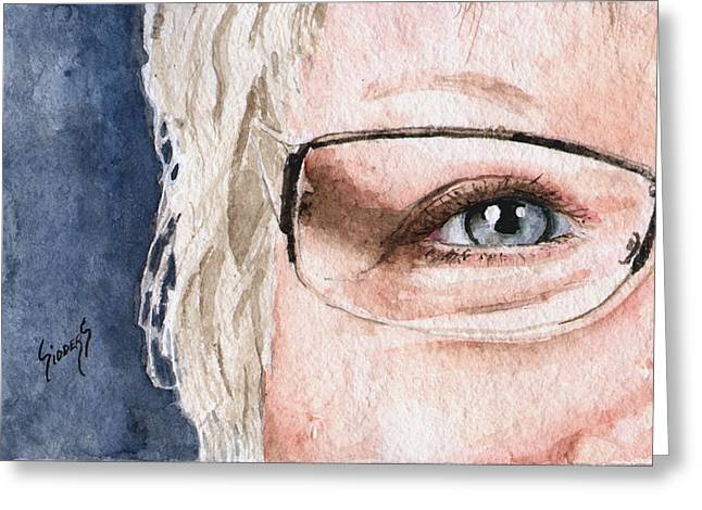 The Eyes Have It - Vickie Greeting Card by Sam Sidders