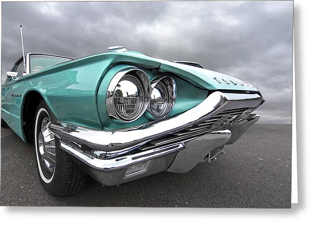 Greeting Card featuring the photograph The Eyes Have It - 1964 Thunderbird by Gill Billington