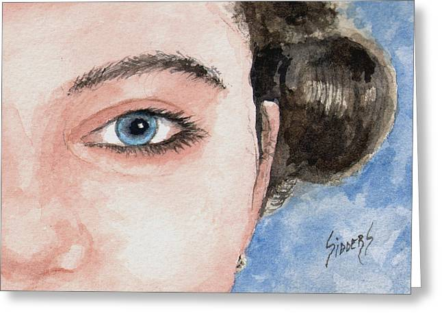 The Eyes Have It  - Audrey Greeting Card by Sam Sidders