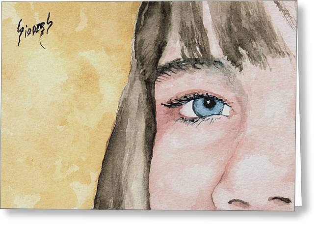 The Eyes Have It - Bryanna Greeting Card by Sam Sidders