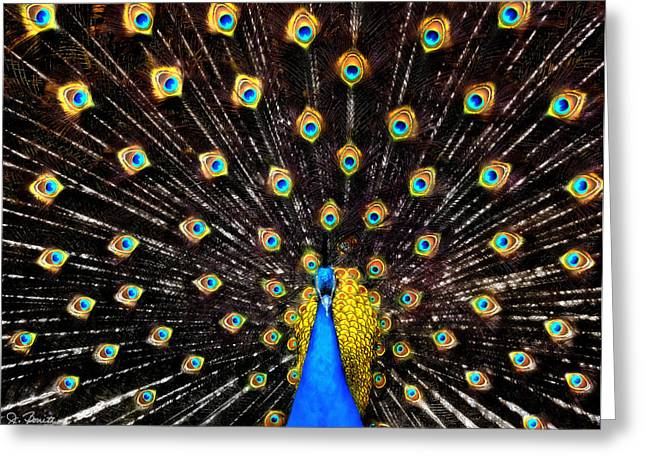 Burst Digital Art Greeting Cards - The Eyes Have It Greeting Card by Joe Bonita