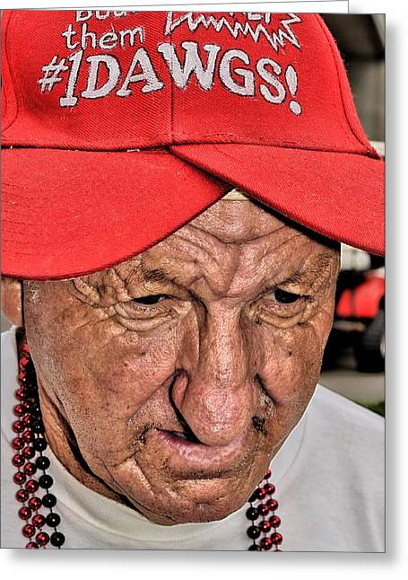 The Eyes Of Age Greeting Card by William Jones