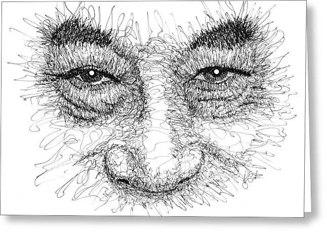 The Eyes Of The Dalai Lama Greeting Card